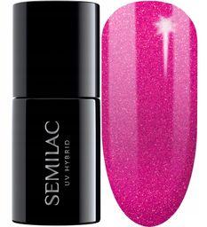SEMILAC 348 Charming Ruby Glitter Lakier Hybrydowy 7ml