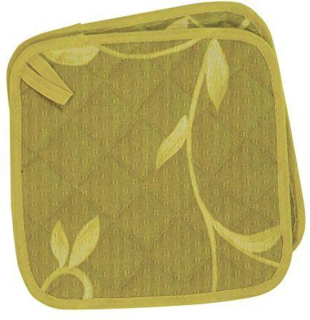 Excelsa Zestaw 2 łapek do garnków, pikowany materiał zielony