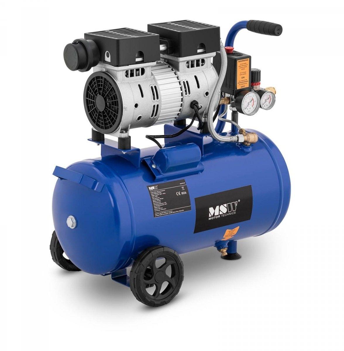 Kompresor bezolejowy - 550 W - 24 l - 8 bar - MSW - MSW-0AC550-24L - 3 lata gwarancji/wysyłka w 24h