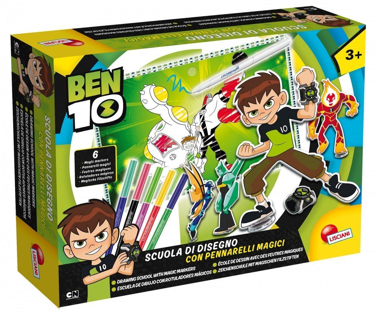 Lisciani gra 66018.0  Ben 10 szkoła pozycji z magicznymi długopisami