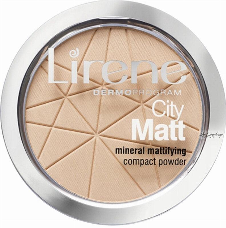 Lirene - City Matt - Mineral Mattifying Compact Powder - Mineralny puder matujący - 01 TRANSPARENTNY