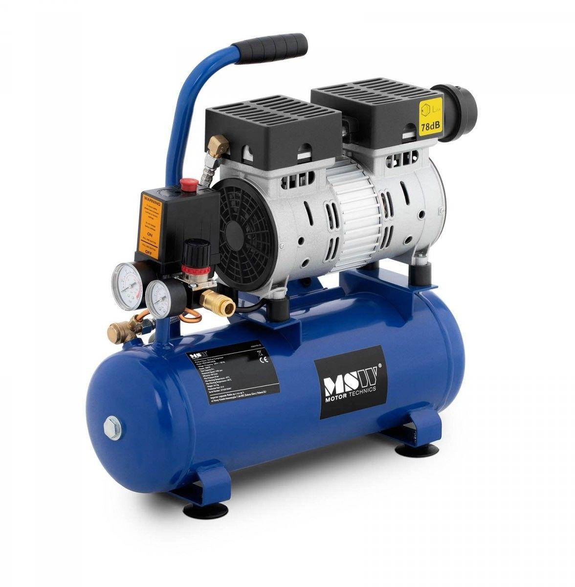 Kompresor bezolejowy - 550 W - 8 l - 8 bar - MSW - MSW-0AC550-8L - 3 lata gwarancji/wysyłka w 24h