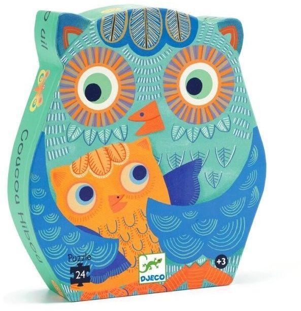 Puzzle dla dzieci w pudełku Sowa 24 el. DJ07215-Djeco, układanka dla dzieci