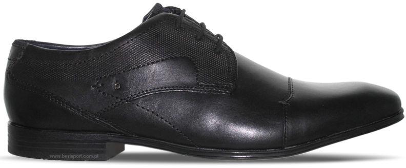 Półbuty męskie Bugatti czarne 312-52803-1000-1000 CZARNY