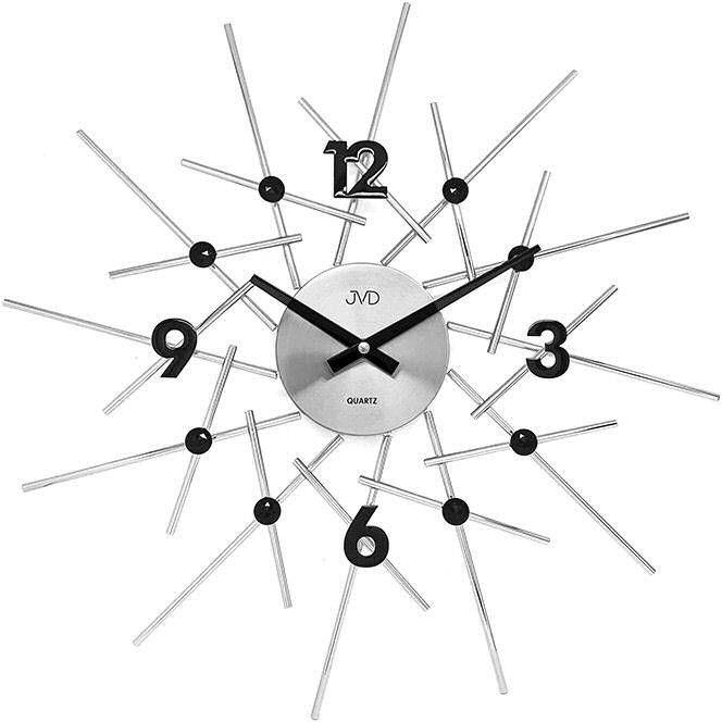 Zegar ścienny JVD HT102.1 z kryształkami, średnica 49 cm