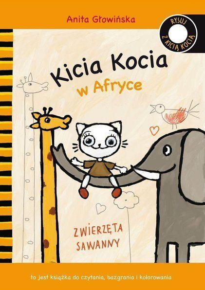 Kicia Kocia w Afryce. Kolorowanka.