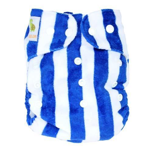pieluszka wielorazowa MINKY biało-niebieska