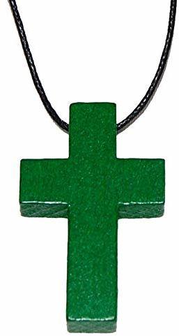 Kollektion Reuter Krzyż na ramię z drewna, drewna bukowego, zielony, rozmiar uniwersalny