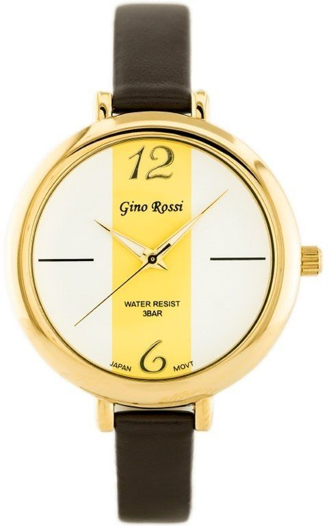 ZEGAREK G.Rossi - TOREZ (zg508d) white/gold/brown + BOX