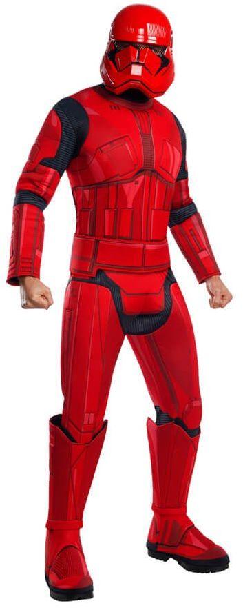 Kostium Czerwony Stormtrooper Deluxe dla dorosłych - Roz. XL