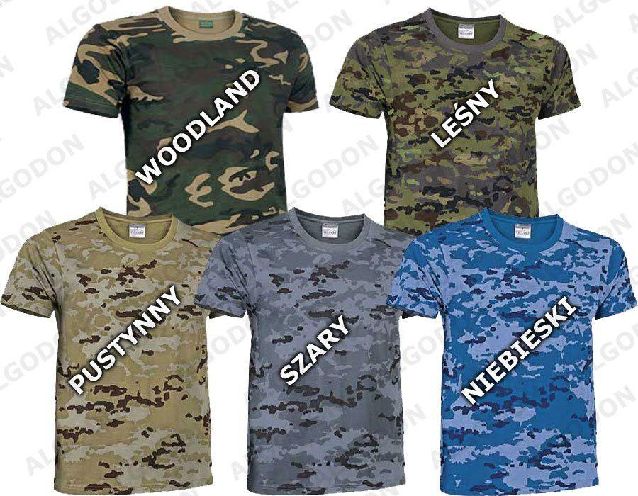 T-shirt koszulka moro ASG bawełna woodland Jungle pantera leśna