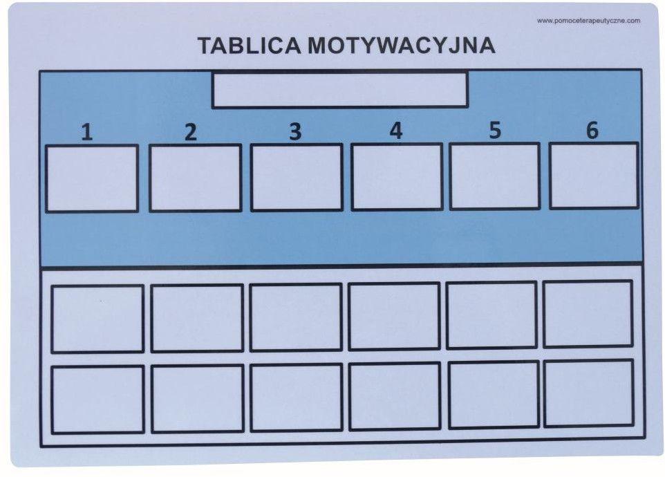 Tablica motywacyjna magnetyczna A4 forma uproszczona niebieska