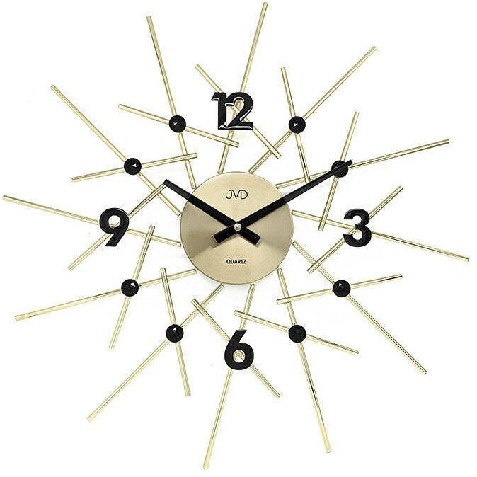 Zegar ścienny JVD HT102.2 z kryształkami, średnica 49 cm