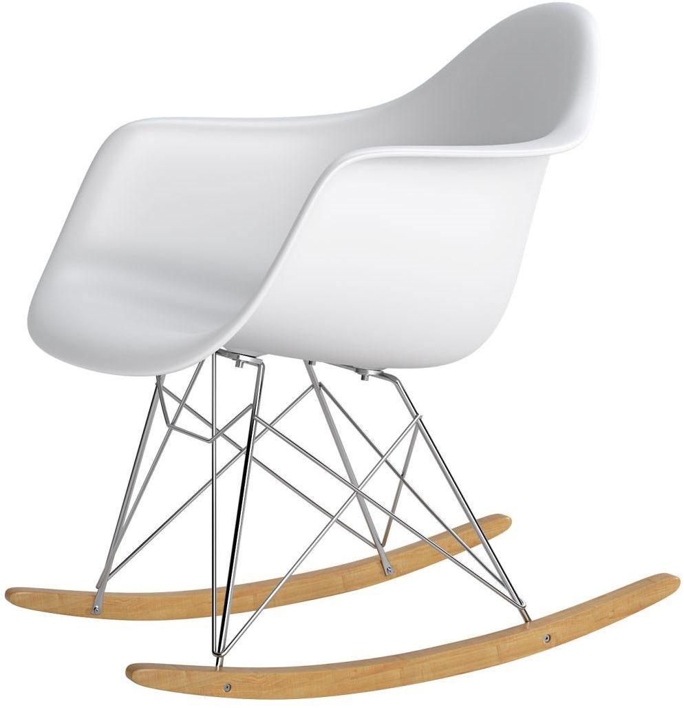 Krzesło bujane P018 RR PP biały