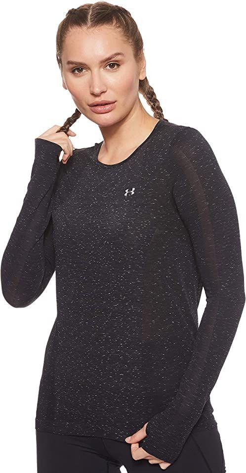 Under Armour damska Vanish bezszwowa koszulka z długim rękawem Spacedye Black/Pitch Gray/Metallic Silver (001) L
