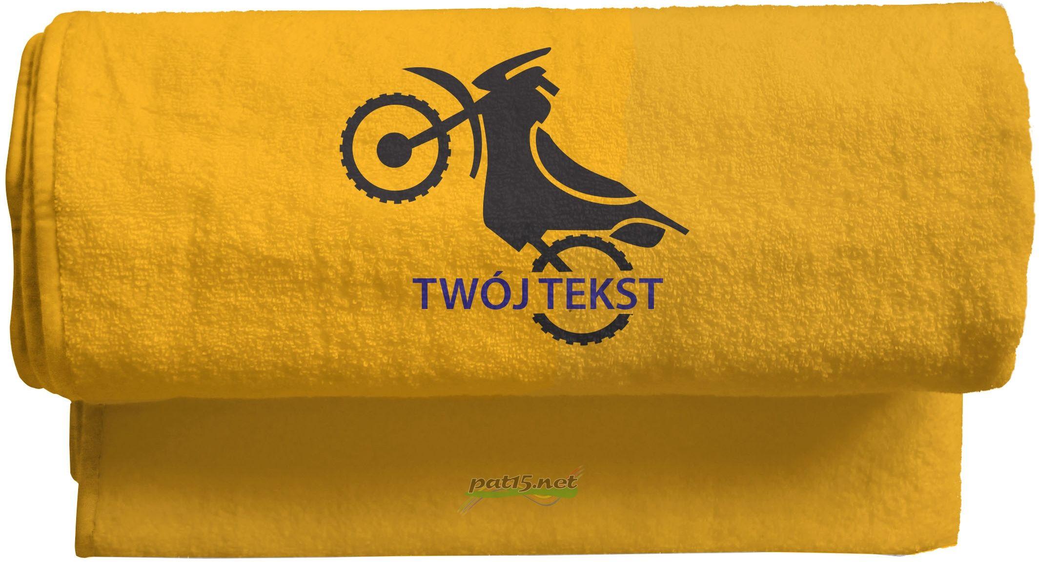 Duży Ręcznik 140x70 z haftem + tekst - Wzór 10