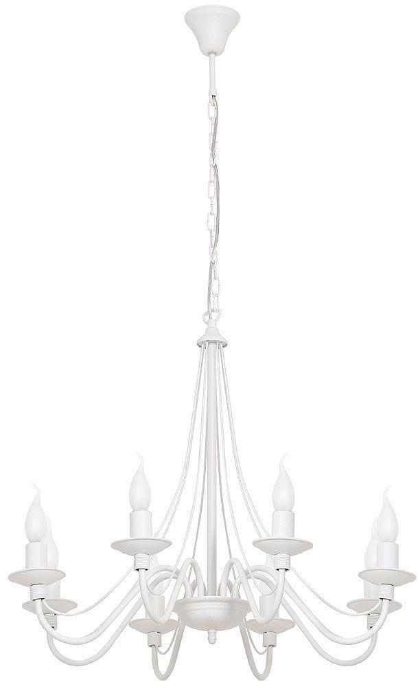 Żyrandol Róża 397P Aldex biała klasyczna oprawa w dekoracyjnym stylu