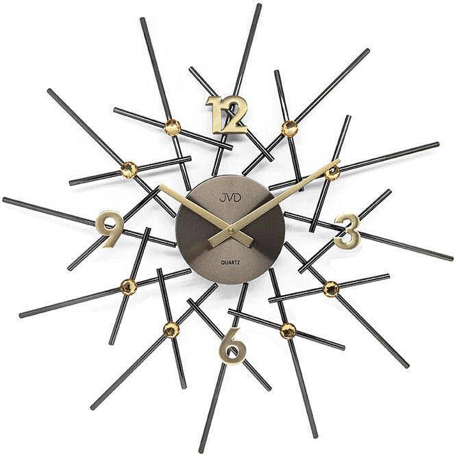 Zegar ścienny JVD HT102.3 z kryształkami, średnica 49 cm