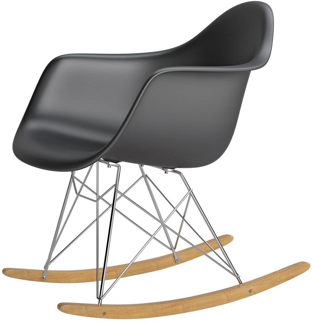 Krzesło bujane P018 RR PP czarny