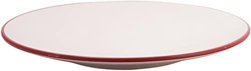 Cala Living Source okrągłe, ceramiczne, białe i bordowe, 33 cm