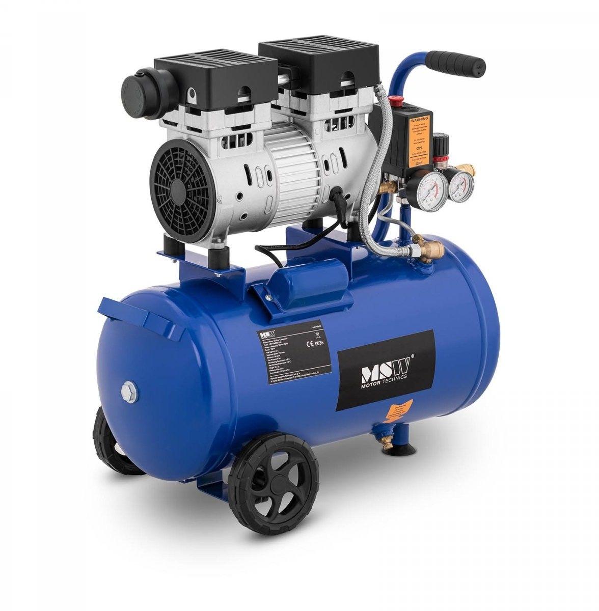 Kompresor bezolejowy - 750 W - 24 l - 8 bar - MSW - MSW-0AC750-24L - 3 lata gwarancji/wysyłka w 24h