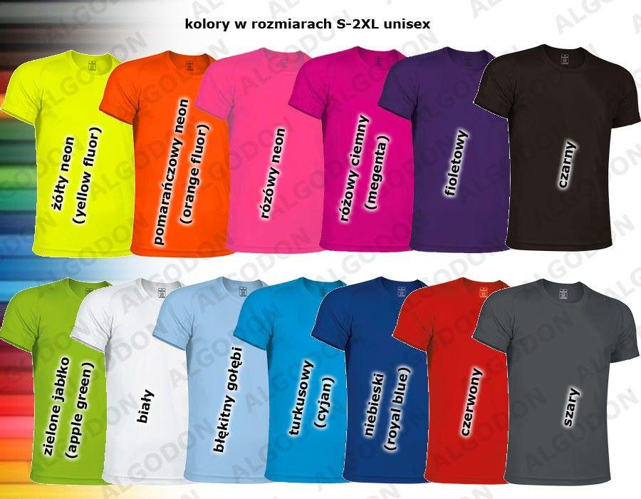 T-shirt koszulka sportowa techniczna termoaktywna oddychająca szybkoschnąca poliestrowa bielizna termiczna CrossFIT