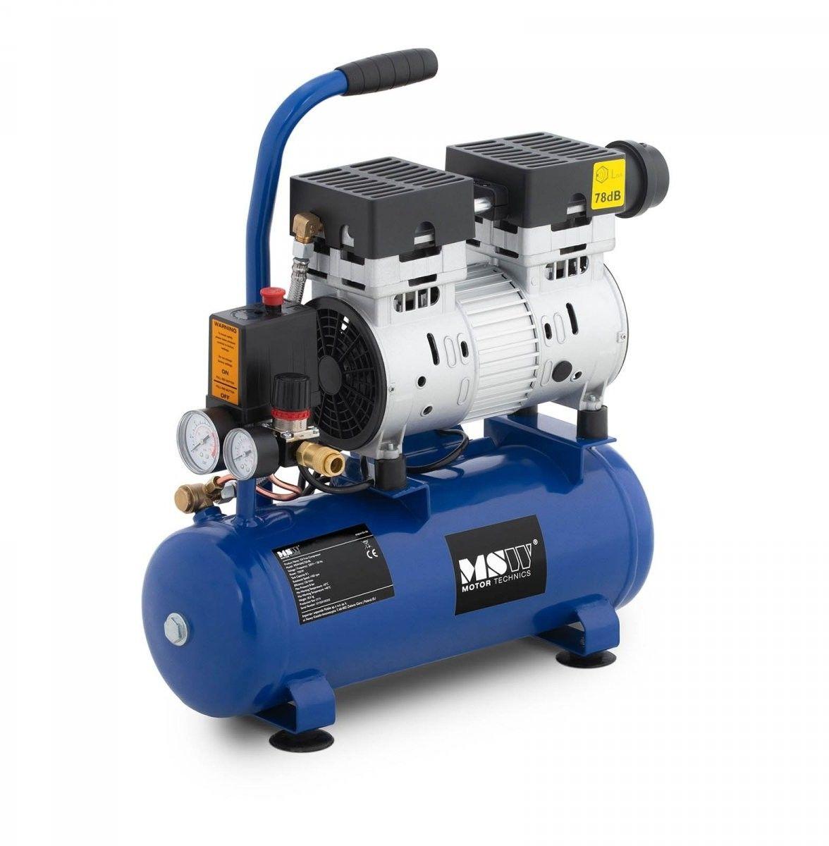 Kompresor bezolejowy - 750 W - 8 l - 8 bar - MSW - MSW-0AC750-8L - 3 lata gwarancji/wysyłka w 24h