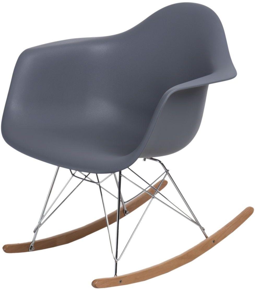 Krzesło bujane P018 RR PP ciemny szary
