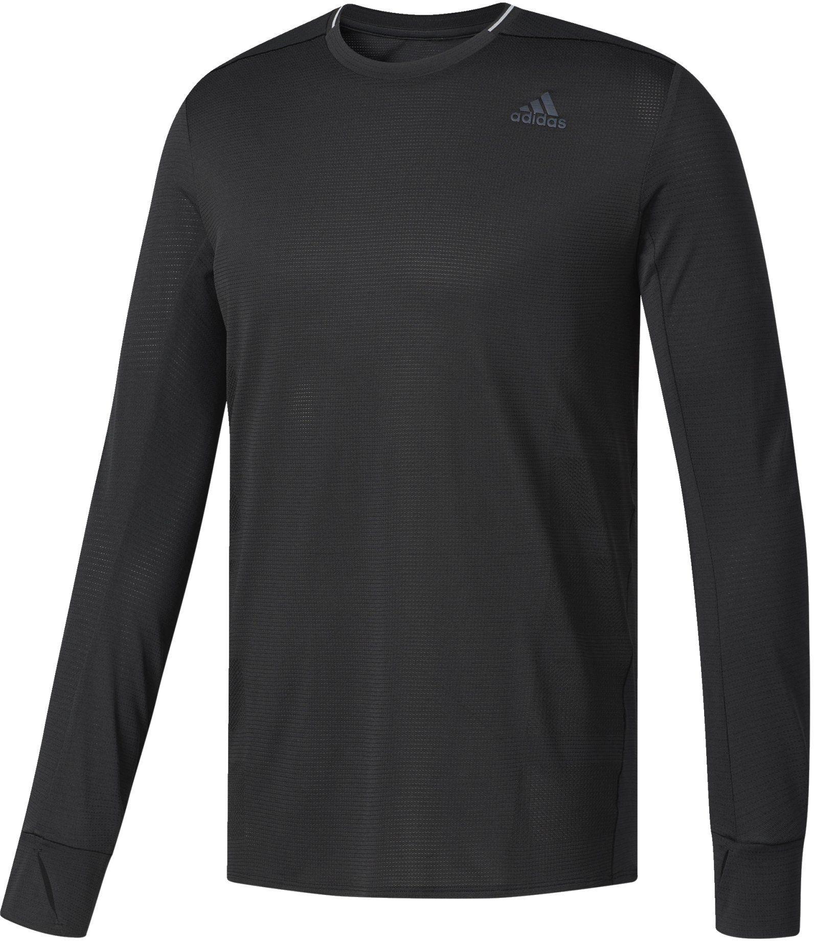 adidas Supernova męska koszulka z długim rękawem czarny czarny X-S