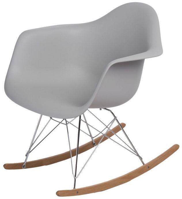 Krzesło bujane P018 RR PP jasny szary
