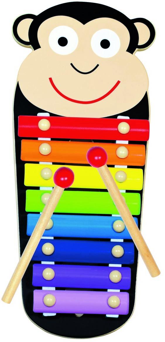 Bino Metalowy ksylofon Małpka, 33 x 14 x 3 cm