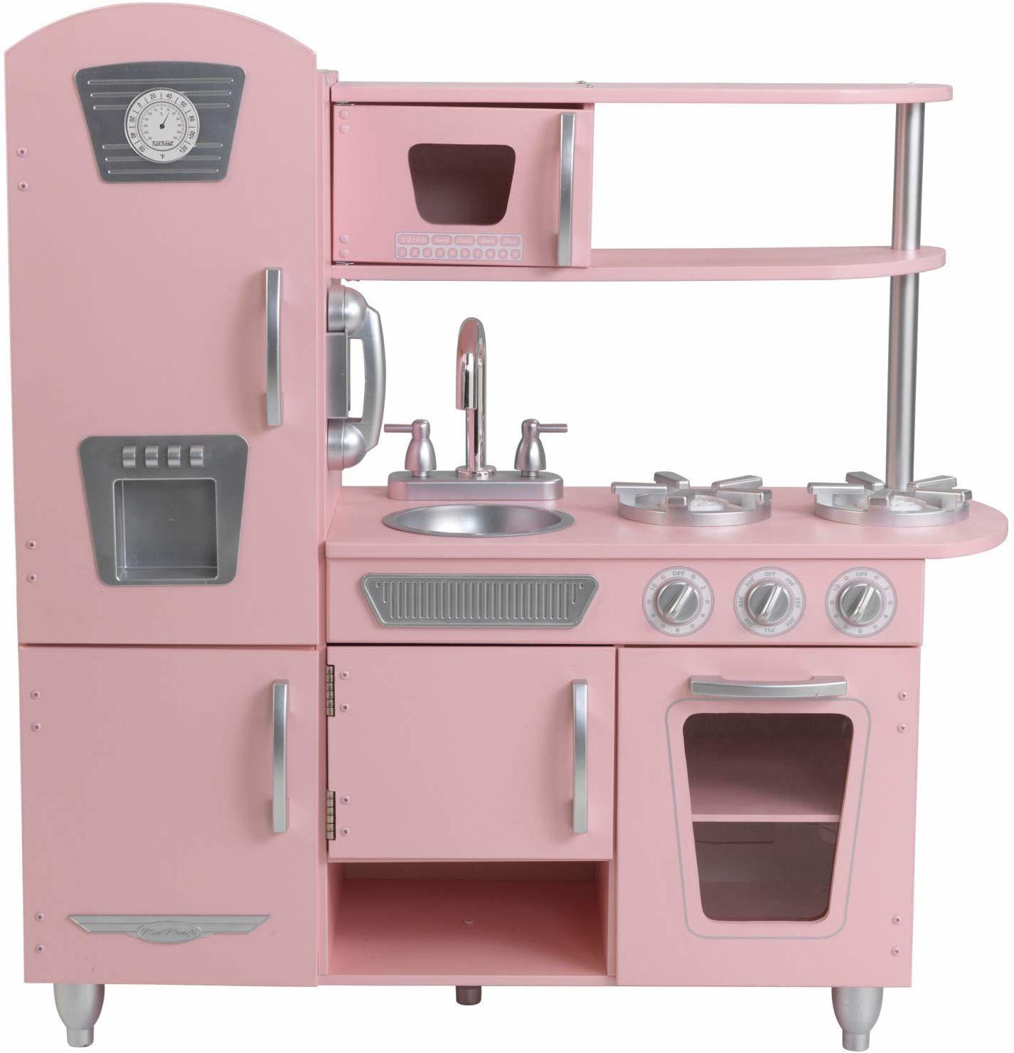 KidKraft 53179 Vintage kuchnia do zabawy, różowa