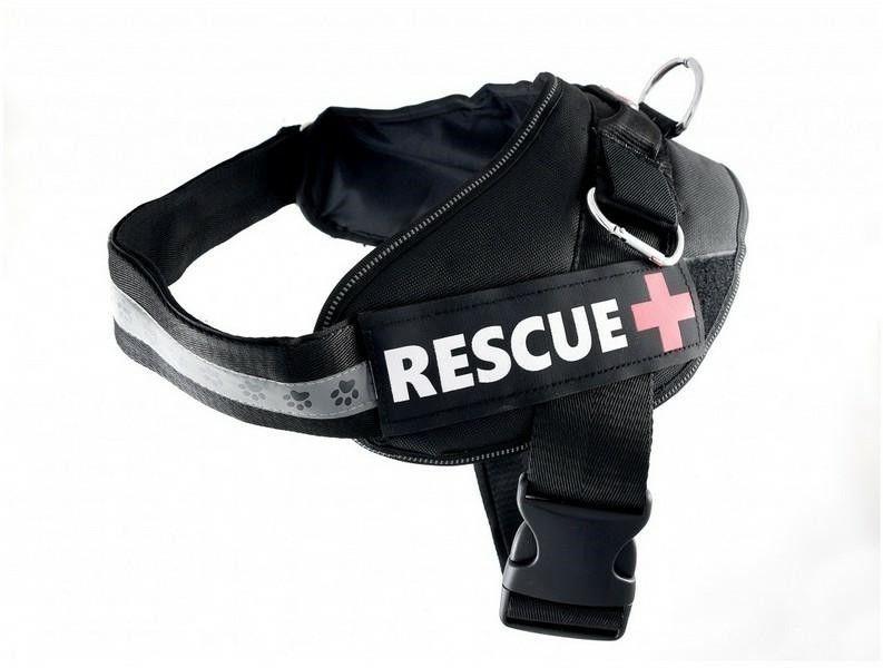 PET NOVA - Szelki rescue czarne