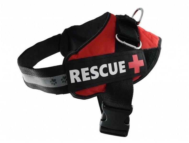 PET NOVA - Szelki rescue czerwone