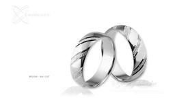 Obrączki srebrne - wzór Ag-137
