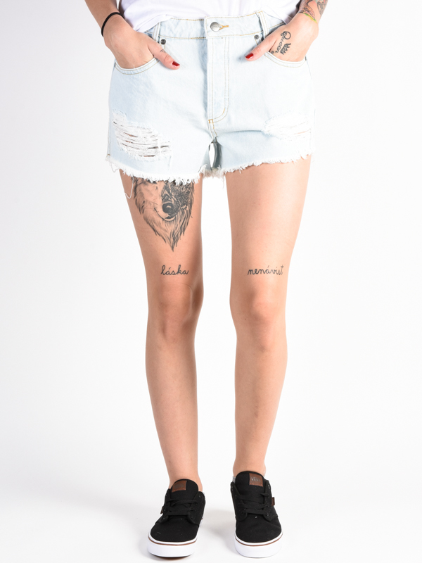 RVCA THE BF BLEACH BUM damskie spodenki jeansowe - 27