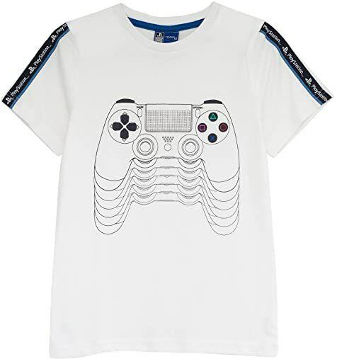 Playstation PS4 zdalna koszulka dziewczęca oficjalne towary Wiek 4-12 lat, prezenty dla graczy PS4 PS5, topy dla dziewcząt, ubrania dla dzieci, pomysł na prezent urodzinowy dla dzieci