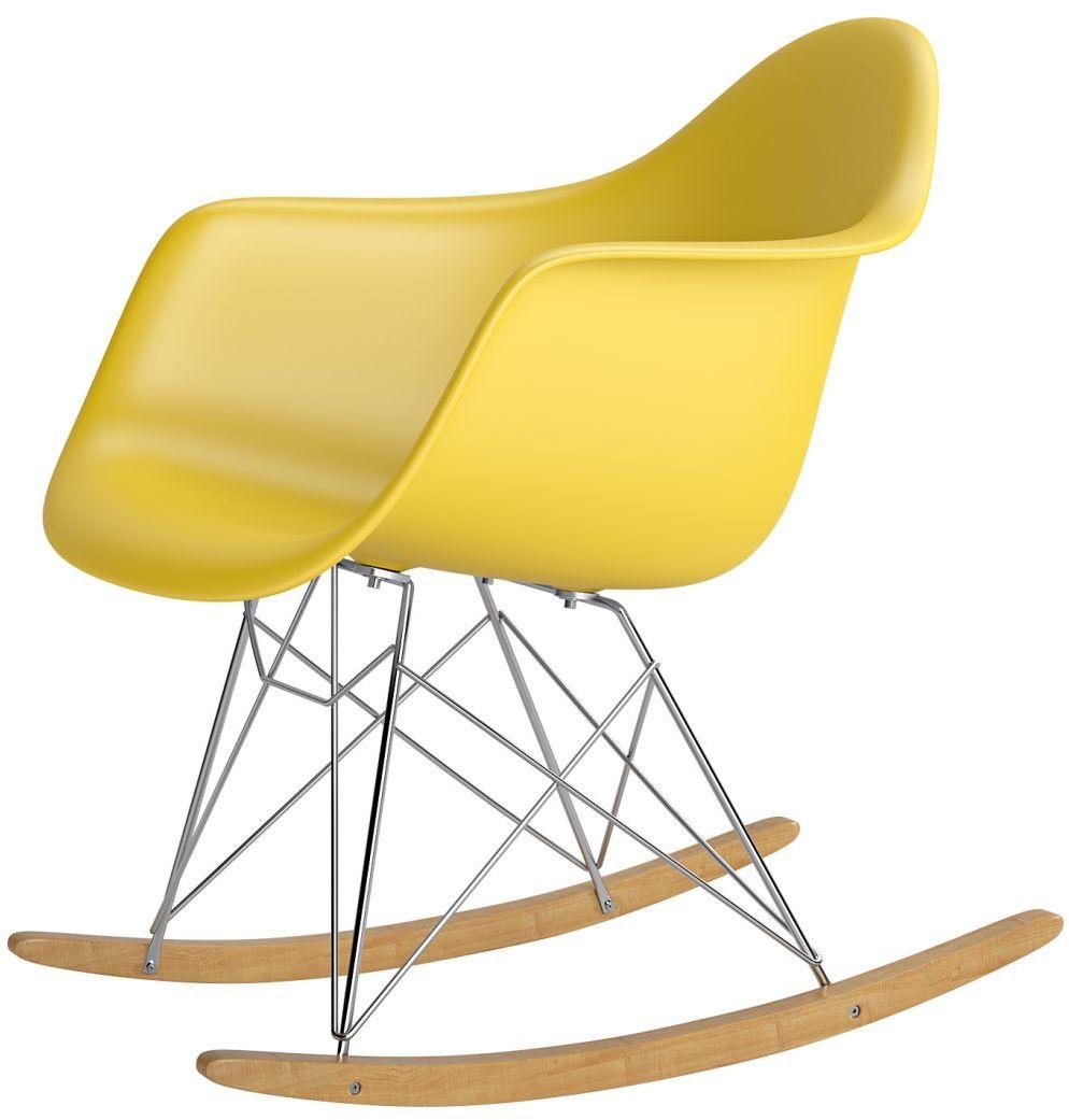 Krzesło bujane P018 RR PP żółty