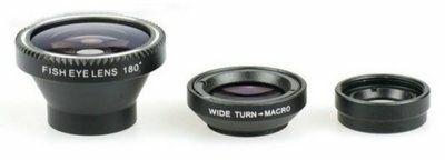 Obiektywy XREC 3w1 Fish Eye/Makro/Wide Angel Czarny