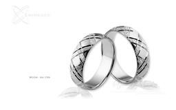 Obrączki srebrne - wzór Ag-139