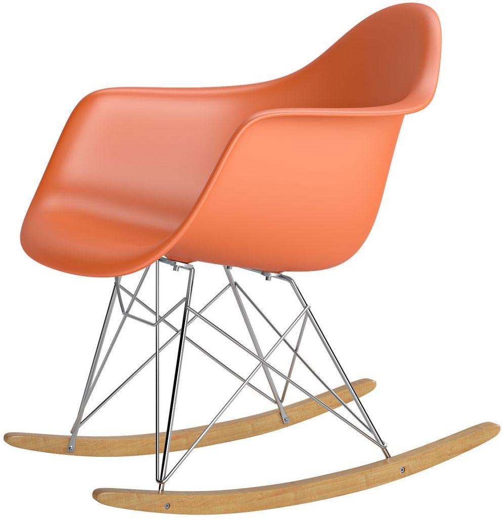 Krzesło bujane P018 RR PP pomarańczowy
