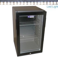 Minibar drzwi szklane 52L 90W 230V +4  +10  402x450x(H)670mm