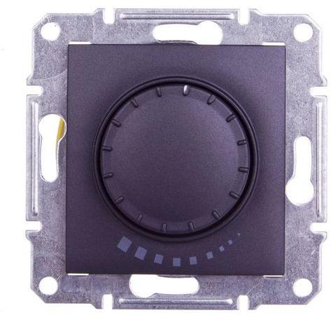 SEDNA Ściemniacz przyciskowo-obrotowy 60-500VA grafitowy SDN2200570