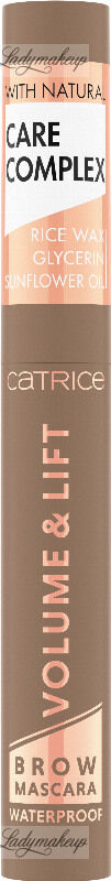 Catrice - VOLUME & LIFT BROW MASCARA WATERPROOF - Wodoodporny pogrubiająco-unoszący tusz do brwi - 5 ml - 020 - BLONDE