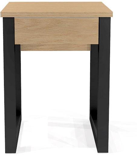 Drewniany stolik nocny z szufladą Inelo D11
