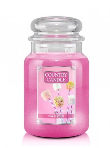 Country Candle - Sweet Stuff - Duży słoik (680g) 2 knoty