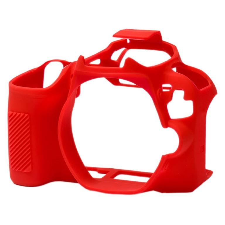 Osłona silikonowa easyCover do aparatów Canon EOS 200D czerwona