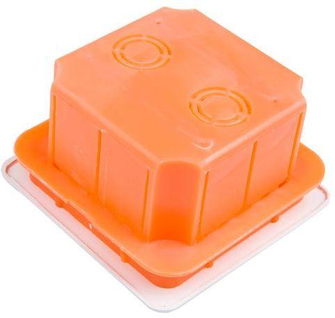 Puszka podtynkowa 76x76x52mm pomarańczowa Pp/t 1 11.1