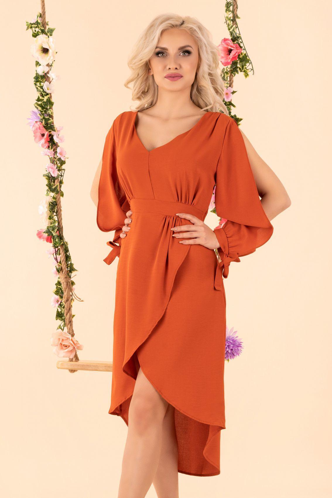 Mallani Brick Red D51 sukienka