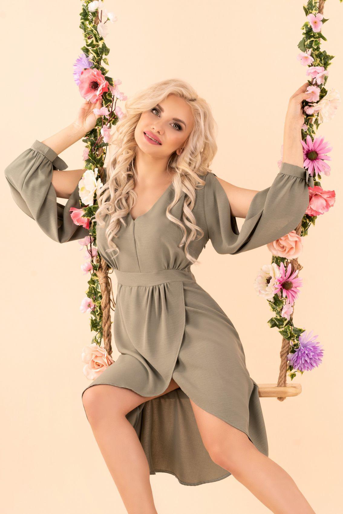 Mallani Khaki D51 sukienka